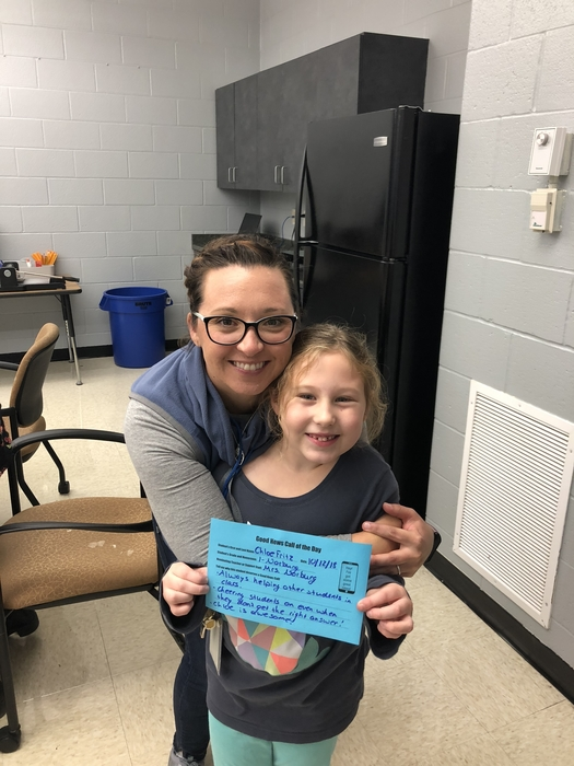 It's great when you get to interrupt mom and tell her about your #GoodNewsCalloftheDay !