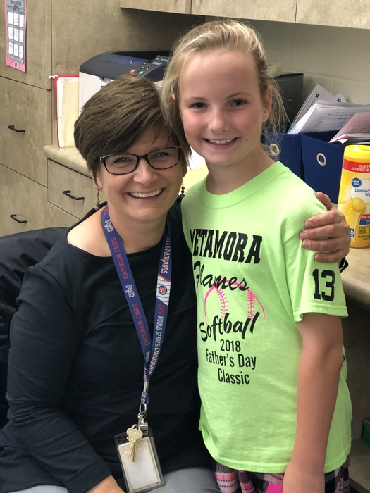 Mrs. Hillegonds is so thankful for Addy!