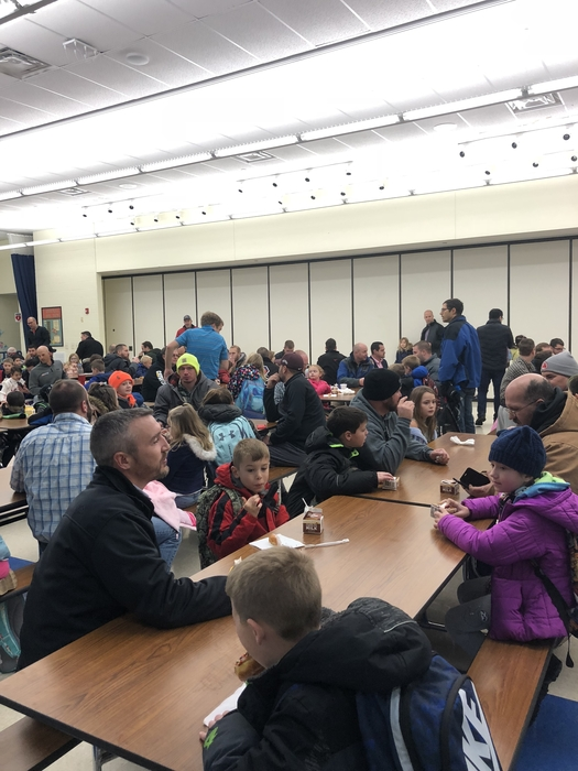 A packed cafeteria is just what we hoped for!