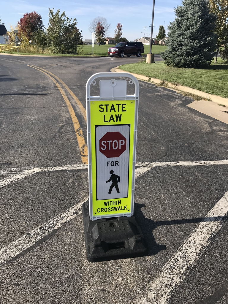 Crosswalk stop sign