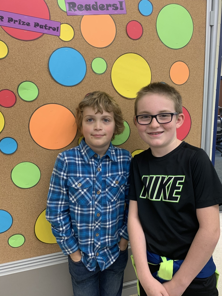 Brady and Marshall earned Principal's Choice for earning 300 AR points.